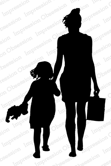Mom & Kid Silhouette