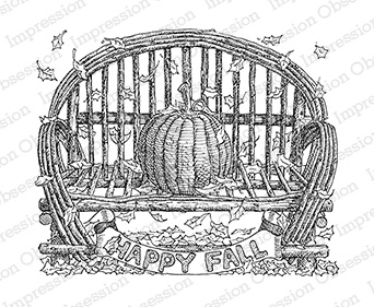 Pumpkin on Bench