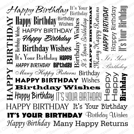 impression obsession rubber stamps cover a card birthday words