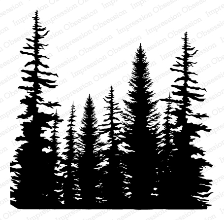 Cover-a-Card Pine Trees