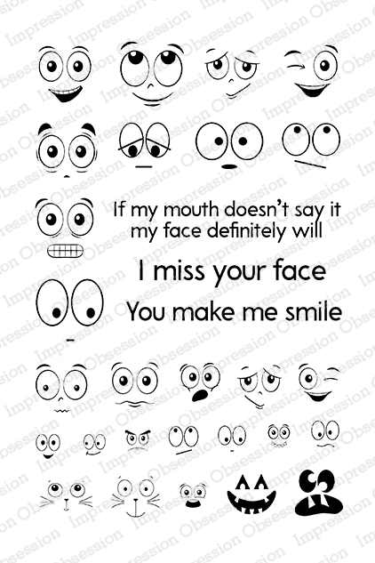 Miss Your Face Stamp Set
