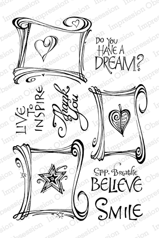 Impression Obsession Rubber Stamps Scroll Frames
