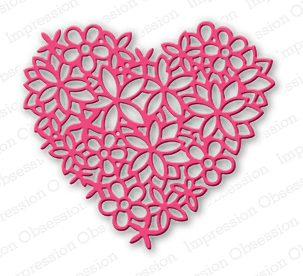 Floral Lace Heart - TEMPORARILY OUT OF STOCK