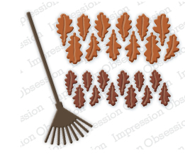 Oak Leaves and Rake