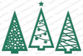 Impression Obsession Rubber Stamps Christmas Tree Cutout