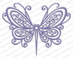 Open Scroll Butterfly
