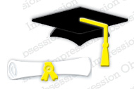 Mortarboard & Scroll - TEMPORARILY OUT OF STOCK