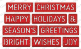 Christmas Stitched Words