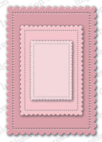 Cute Scalloped Rectangles- TEMPORARILY OUT OF STOCK